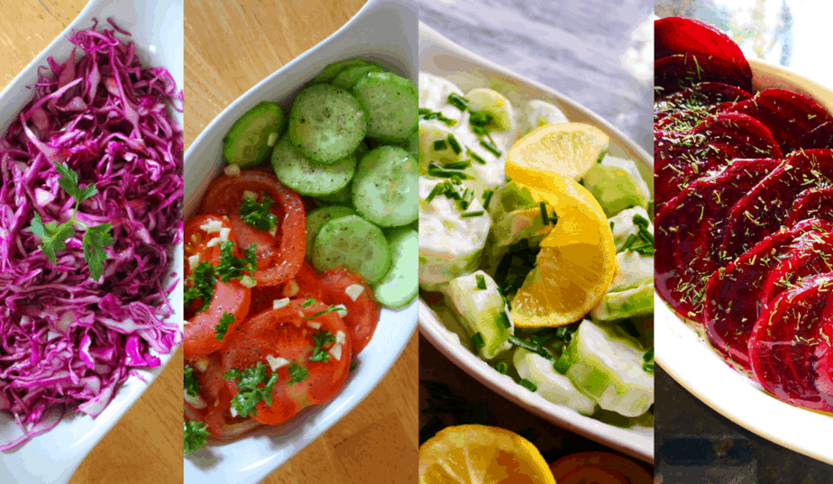 4 seriously QUICK & EASY Salad Recipes | European Inspired