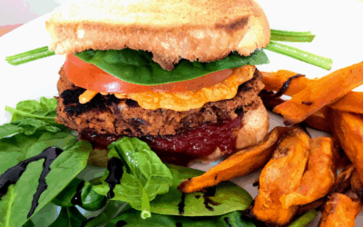 ONLY 2 INGREDIENTS!!! Vegan & HIGH in PROTEIN Burger